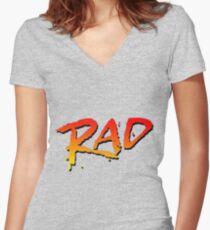 RAD BMX MOVIE 1986 Women's Fitted V-Neck T-Shirt