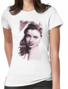 Diana Dors vintage color Womens Fitted T-Shirt