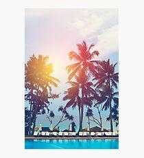 Beach sunset at the coast line Photographic Print