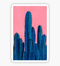 Blue Cactus Sticker