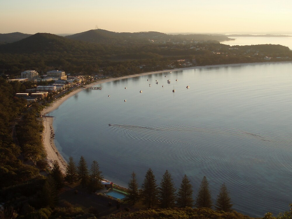Nelson Bay from Tomaree Head by Paul Lamble