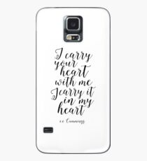 E.E Cummings, I Carry Your heart With Me I Carry It In My Heart,Gift For Her,Love Sign,Love Quote Case/Skin for Samsung Galaxy