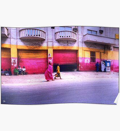 Colors on the Streets of Dakar Senegal Poster