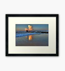 Morning Clouds at Merewether Baths Framed Print
