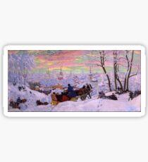 Boris Kustodiev - Shrovetide 1916 Sticker