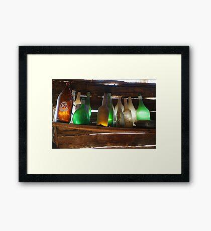 Old Bottles Framed Print