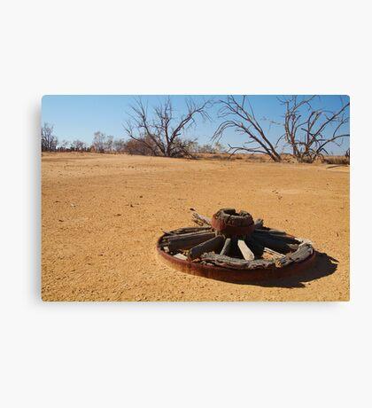 Cart Wheel,Outback Australia,Qld Canvas Print