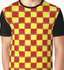 Yellow Chess Graphic T-Shirt