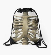 Three dimensional view of female sternum and rib cage. Drawstring Bag
