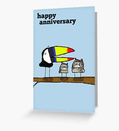 Anniversary greetings card Greeting Card
