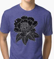Inverted Peony Tri-blend T-Shirt