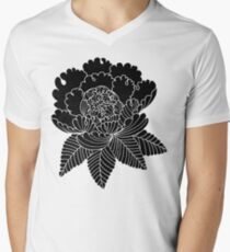 Inverted Peony Men's V-Neck T-Shirt
