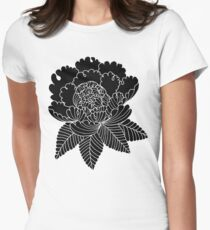 Inverted Peony Womens Fitted T-Shirt