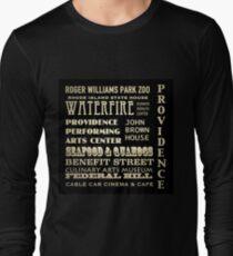 Providence Rhode Island Famous Landmarks Long Sleeve T-Shirt