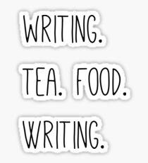 Writing, Tea, Food, Writing Sticker