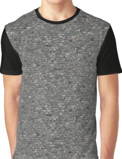 Grey Stone Wall   Texture Graphic T-Shirt