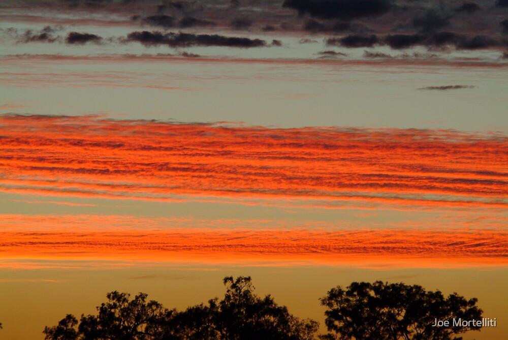 Red Sunrise,Batton Hill, North Simpson Desert by Joe Mortelliti