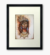 Godess with jewels Framed Print