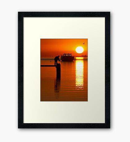 Fishing at Dawn #2 Framed Print