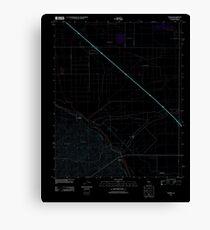 USGS TOPO Map California CA Tupman 20120427 TM geo Inverted Canvas Print