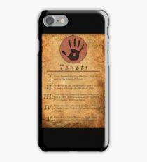 The Elder Scrolls V: Skyrim - Dark Brotherhood Tenents iPhone Case/Skin