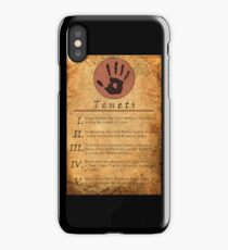 The Elder Scrolls V: Skyrim - Dark Brotherhood Tenents iPhone Case