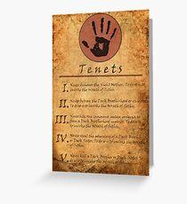 The Elder Scrolls V: Skyrim - Dark Brotherhood Tenents Greeting Card