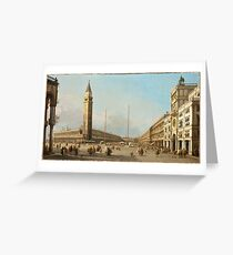 Called Canaletto Antonio Canal - Piazza San Marco Looking South And West. Greeting Card
