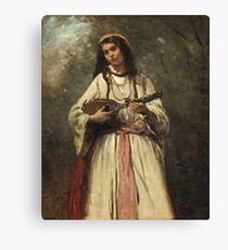 Camille Corot - Gypsy Girl With Mandolin Canvas Print