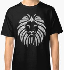 Lion Head Black and White Classic T-Shirt