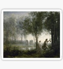 Camille Corot - Orpheus Leading Eurydice From The Underworld Sticker