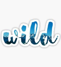 """Wild"" - Mountain Scene Sticker"
