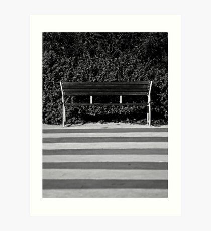 The Empty Bench Art Print