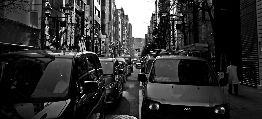Downtown Tokyo by sunny