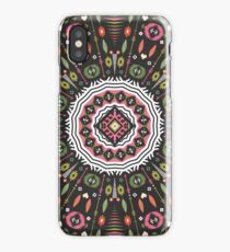 Ornamental round aztec geometric pattern iPhone Case