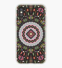 Ornamental round aztec geometric pattern iPhone Case