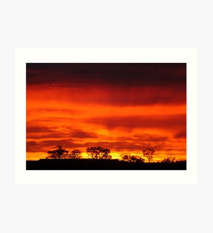 Firey Sunrise, Batton Hill, North Simpson Desert Art Print