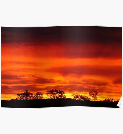 Firey Sunrise, Batton Hill, North Simpson Desert Poster