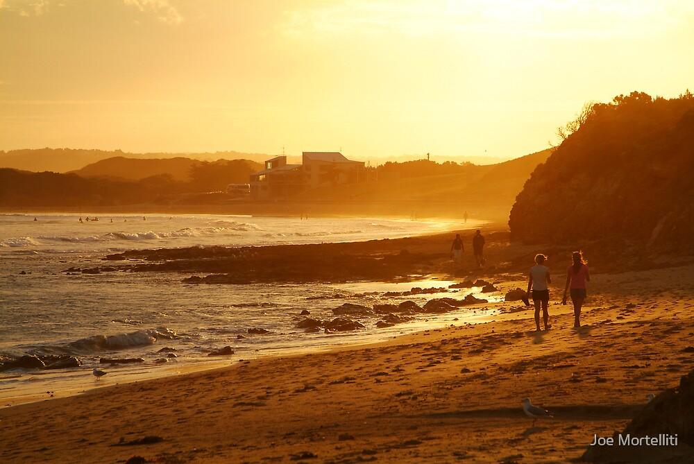 Strolling Torquay Surf Beach,Great Ocean Road by Joe Mortelliti