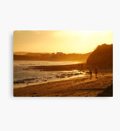Strolling Torquay Surf Beach,Great Ocean Road Canvas Print