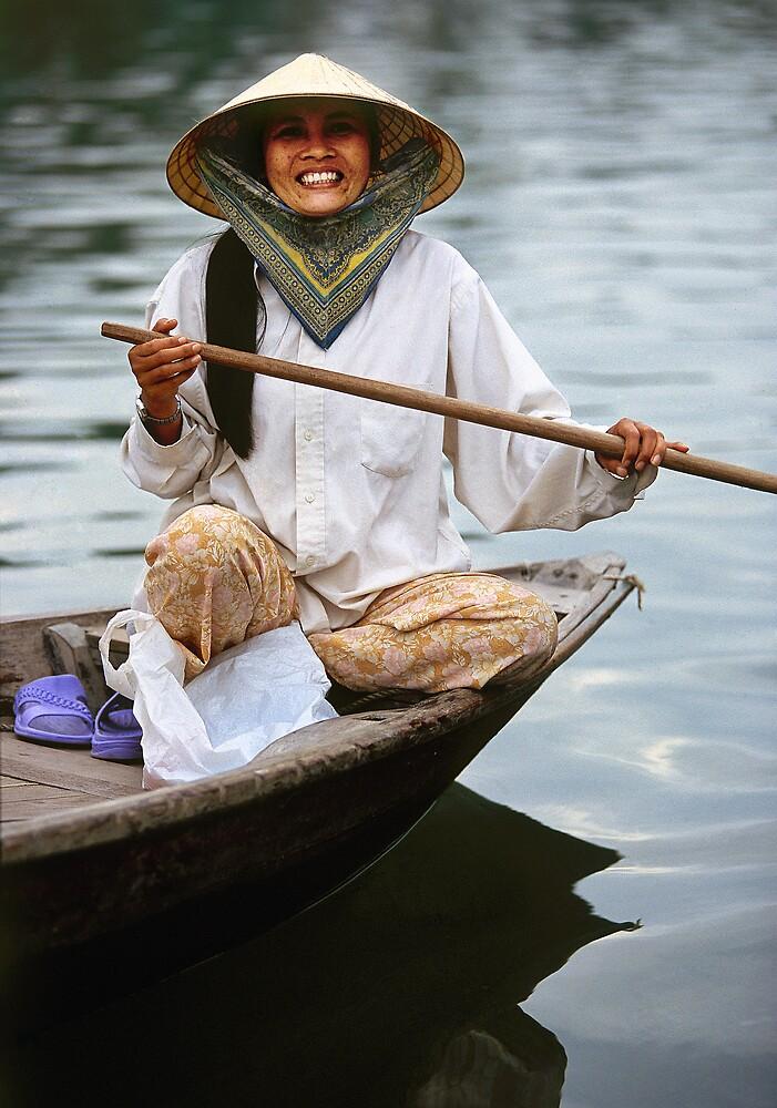 Vietnamese rower by Anthony Begovic