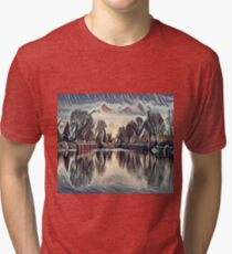Clouds on the Lake Tri-blend T-Shirt