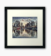 Clouds on the Lake Framed Print