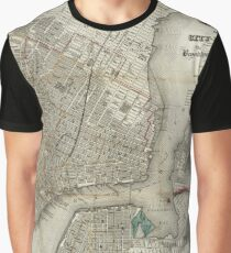 Antique Map New York City | Globetrotter Graphic T-Shirt