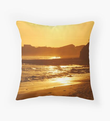 Sunset, Torquay Surf Beach,Great Ocean Road Throw Pillow
