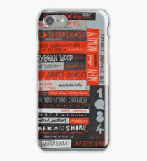 Murakami Book Stack Fanatic (Colour) iPhone Case/Skin