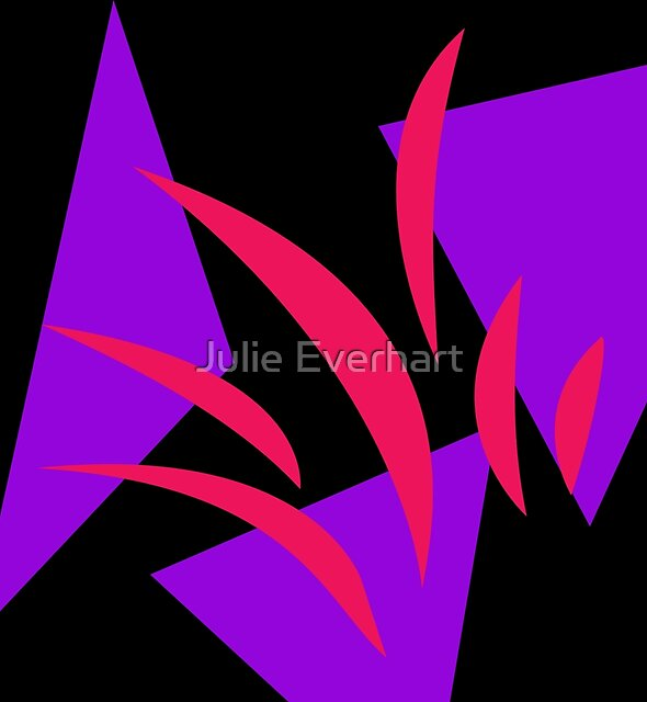 Hot Pink and Purple by Julie Everhart by Julie Everhart