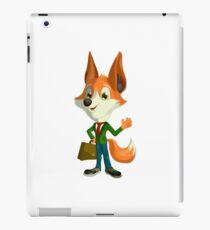 Business fox iPad Case/Skin