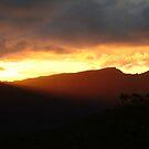 Blazing Sunset Grampians by Joe Mortelliti
