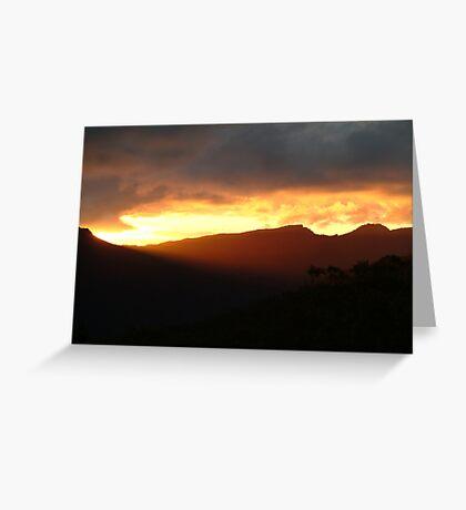 Blazing Sunset Grampians Greeting Card